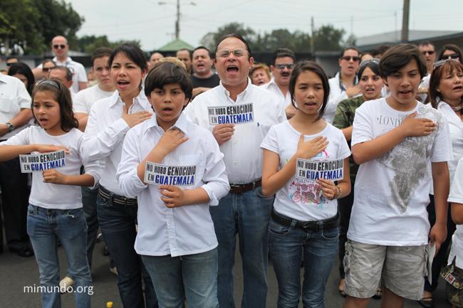 Pro Rios Montt Protest